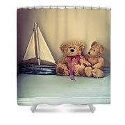 Teddy Bears Shower Curtain by Jan Bickerton