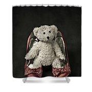 Teddy In Pumps Shower Curtain by Joana Kruse