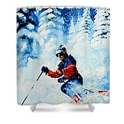 Telemark Trails Shower Curtain by Hanne Lore Koehler