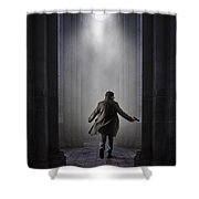 Temple Chase Shower Curtain by Carlos Caetano