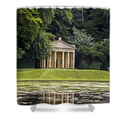 Temple Of Piety Shower Curtain by Chris Smith