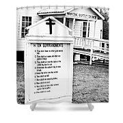Ten Commandments Shower Curtain by Scott Pellegrin