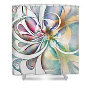 Tendrils 04 Shower Curtain by Amanda Moore