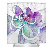 Tendrils 10 Shower Curtain by Amanda Moore