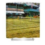 Tennis Hall Of Fame - Newport Rhode Island Shower Curtain by Michelle Calkins