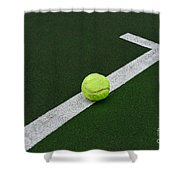 Tennis - The Baseline Shower Curtain by Paul Ward