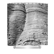 Tent Rocks Wall Shower Curtain by Steven Ralser
