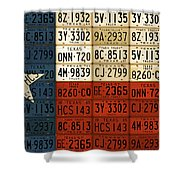 Texas Flag The Lone Star State License Plate Art Shower Curtain by Design Turnpike