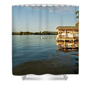 Texas Hill Country Lake Shower Curtain by Kristina Deane