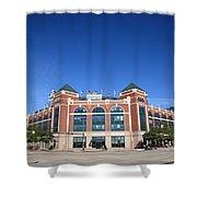 Texas Rangers Ballpark in Arlington Shower Curtain by Frank Romeo