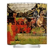 Texas Rodeo Shower Curtain by Corporate Art Task Force