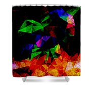 Textured Triangles With Color Shower Curtain by Phil Perkins