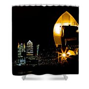 Thames Barrier Shower Curtain by Dawn OConnor