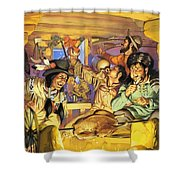 Thanksgiving Shower Curtain by Angus McBride