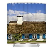 Thatched Country House Shower Curtain by Heiko Koehrer-Wagner