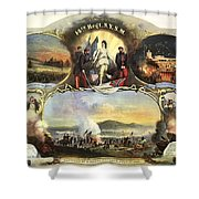The 14th Regiment New York State Militia Shower Curtain by Unknown