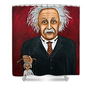 The 2 Einstein's Shower Curtain by Leah Saulnier The Painting Maniac