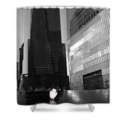 The 911 Memorial In Black And White Shower Curtain by Dan Sproul