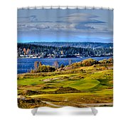 The Amazing Chambers Bay Golf Course - Site Of The 2015 U.s. Open Golf Tournament Shower Curtain by David Patterson