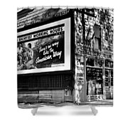 The American Way - Shortest Working Hours Shower Curtain by Benjamin Yeager