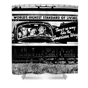The American Way - Standard Of Living Shower Curtain by Benjamin Yeager