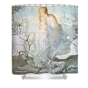 The Angel Of Life Shower Curtain by Giovanni Segantini