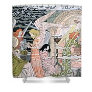 The Angels Kitchen Shower Curtain by Eugene Grasset