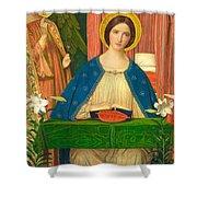 The Annunciation Shower Curtain by Arthur Joseph Gaskin