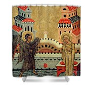 The Annunciation Shower Curtain by Fedusko of Sambor