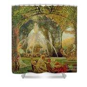 The Arbor Shower Curtain by Gaston De la Touche