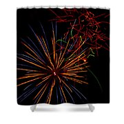 The Art Of Fireworks  Shower Curtain by Saija  Lehtonen