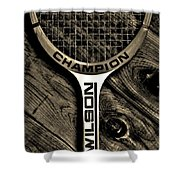 The Art of Tennis 2 Shower Curtain by Benjamin Yeager