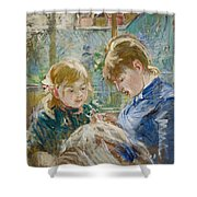 The Artists Daughter Shower Curtain by Berthe Morisot