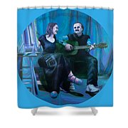 The Artists Shower Curtain by Shelley Irish