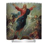 The Ascension Shower Curtain by Jean Francois de Troy