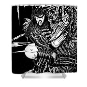 The Assassin Shower Curtain by Justin Moore
