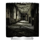 The Asylum Project - Corridor Of Terror Shower Curtain by Erik Brede