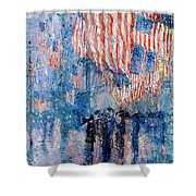 The Avenue In The Rain Shower Curtain by Frederick Childe Hassam