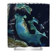 The Bahamas Shower Curtain by Adam Romanowicz