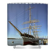 The BALCLUTHA Historic 3 Masted Schooner - San Francisco Shower Curtain by Daniel Hagerman