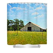 The Barn Shower Curtain by Cheryl Young