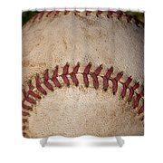 The Baseball II Shower Curtain by David Patterson