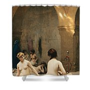 The Bathers Shower Curtain by Jean Leon Gerome