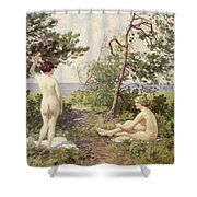 The Bathers Shower Curtain by Paul Fischer