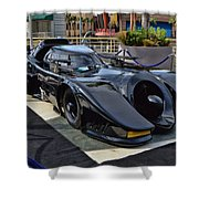 The Batmobile Shower Curtain by Tommy Anderson
