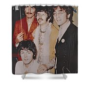 The Beatles In Color Shower Curtain by Donna Wilson