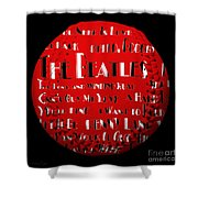 The Beatles Songs Baseball Square Shower Curtain by Andee Design