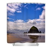The Beautiful Cannon Beach Oregon Shower Curtain by David Patterson