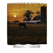 The Beauty Of A Rural Sunset Shower Curtain by Mary Carol Story