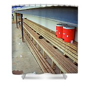 The Bench Shower Curtain by Frank Romeo